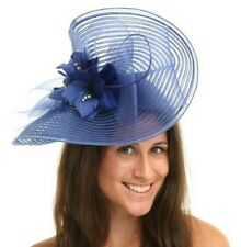 New Ladies Outdoor Occasion Wedding/Races Fascinator Style F3472 Royal Blue