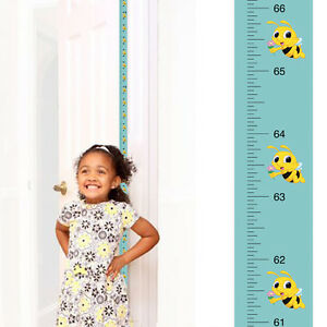 Mom Approved Flower Bee Growth Chart:Track & Measure Height (Fits in Door Jamb)