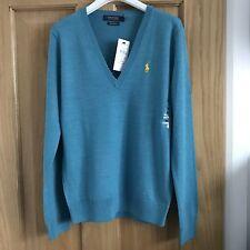 BNWT *CLEARANCE* Ralph Lauren Polo Ladies Merino Wool Jumper Size L RRP £125