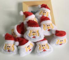 Lot de 9 Petits Père Noël- Article de Décoration ou Accessoires - Bijoux des Lys