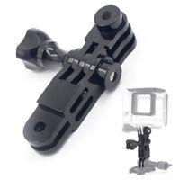 JMTCNC Aluminum 3-Way Pivot Arm Mount Adapter for Gopro HD Hero 3 2 Camera Black