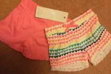 Baby' girl's shorts , 2 pairs.. Age 0-3m. Bnwt