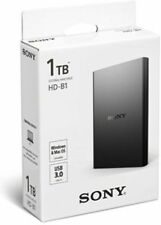 Sony 1TB USB 3.0 External Hard Disk Drive HD-B1☼ 3 Year Sony Warranty ☼Seal Pack