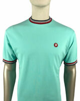 Trojan Records Tee - Trojan Records Men's TC1013 Tipped Crew T Shirt Mint