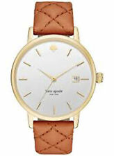 NEW Kate Spade New York KSW1161 Metro Grand Gold / Luggage Leather Women's Watch