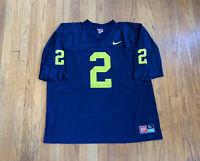 Michigan Wolverines Vintage 90's Charles Woodson Nike Jersey Mens XL EUC RARE