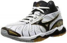 MIZUNO Ondulado Tornado X Medio Voleibol Zapatos Blanco V1GA1617 Nuevo Tracking