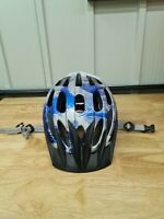 Specialized Sierra womens cycle helmet medium 50-58cm Blue silver with peak USED