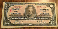 1937 CANADA 10 DOLLAR BANK NOTE - A/T - Coyne / Towers