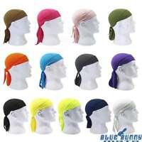 Pirate Cap HeadWrap Men's Biker Hip Hop Smooth Skull Du Rag  HeadScarf 13 Colors
