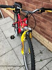 """Peugeot boys mountain bike 18 speed with front suspension - 24"""" wheels"""