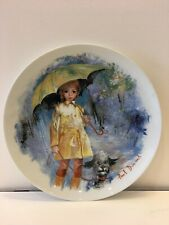 """Limoges Turgot """"Christiane Et Fifi"""" Collector Plate 1980, by Paul Durand Coa"""