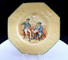 """Wedgwood #1469 Charles Dickens The Two Wellers Octagon 8 1/2"""" Plate 1908-1956"""