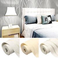 10M 3D Non-woven Wave Stripe Embossed Wallpaper Rolls Bedroom Living Room Wall