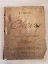 1963 CHEVROLET CHEVY II PASSENGER CAR SHOP MANUAL SUPPLEMENT CHEVY 63