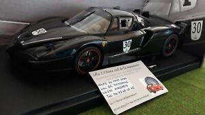 FERRARI FXX noir # 30 SCHUMACHER ELITE o 1/18 HOT WHEELS N2061 voiture miniature