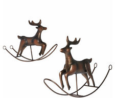 QVC Decor ED On Air S/2 Large & Small Rocking Reindeer By Ellen DeGeneres