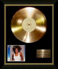 Whitney Houston / Ltd Edition CD Gold Disc / Record / Whitney