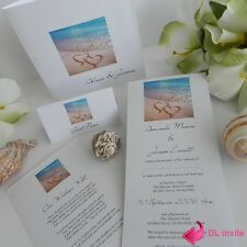 Love Hearts in the Sand Beach Wedding Engagement Invitation -  Samples ONLY $1