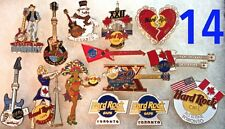14 Hard Rock Cafe TORONTO Canada PIN LOT Guitar Holiday Anniversary HRC Logos +