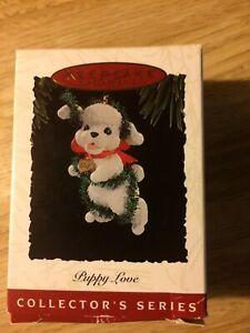 Hallmark Keepsake Christmas Ornament 1994 Puppy Love Series Poodle Used
