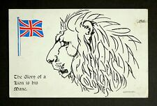 22 May 1915 WW1 Postcard Lion Mane Hanover House St Kensington Bath Somerset