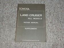 1973 1974 Toyota Land Cruiser FJ40 Shop Service Repair Manual Supplement