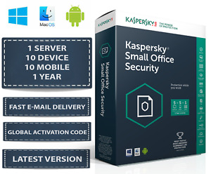 LatestKaspersky Small Office Security - 1 Server 10 DEVICE + 10 MOBILE + 1 YEAR
