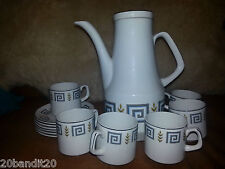 WOOD & SONS ENGLAND  PORCELAIN MODERN DESIGN ALPINE WHITE TEA POT SET