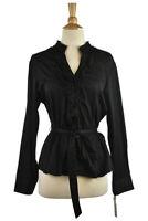 Apt. 9 Women Tops Button Down Shirts XL Petite Black Cotton