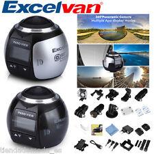 WIFI 3K 30fps 16MP Sport Action Camera 360° HD Mini Panoramic Video 3D VR Camera