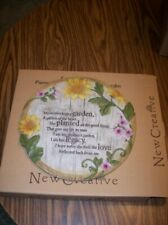 New Creative Garden Stone - Mother'S Garden - New In Box!