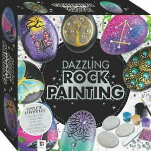 Stone Rock Painting Kit Dazzling Rock Complete Kit Includes Glitter Diamantes