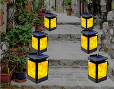 Solar LED Dancing Flickering Torch Flame Light Lamp Garden Outdoor Landscape US