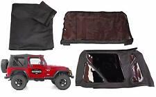 Premium Soft top Canvas + Rear Tinted Windows Black Diamond 97-06 Jeep Wrangler