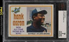 1974 Topps Hank Aaron ALL-TIME HR KING #1 BVG 7 NRMT