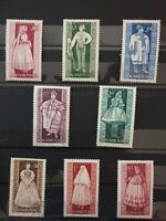 Hungary 1963 Provincial Costumes. 8 stamps used