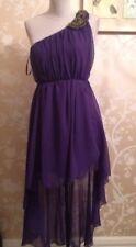 Ax Paris One Shoulder Hi Lo Hem Dress Size Uk 10 Bnwt