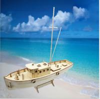 Ship Assembly Model DIY Kits Wooden Sailing Boat  Decoration Toy Gift