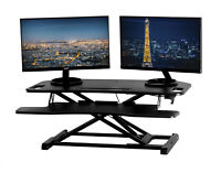 Corner Standing Desk Converter Workstation Stand Up Adjustable Desk Riser