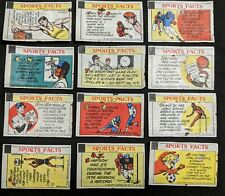 1960s Sports Facts Topps Bazooka Wrappers w/Don Drysdale & Wilt Chamberlain (23)