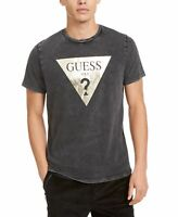 Guess Mens T-Shirt Stone Wash Gray Size Small S Graphic Shine Logo Tee $69 #066
