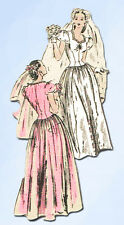 1940s Vintage Vogue Sewing Pattern 5376 Gorgeous Misses Wedding Dress Size 30B