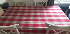 John Lewis Christmas red check tablecloth