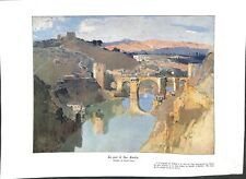 Pont San Martin Tolède Castille-La Manche Espagne Désiré Lucas ILLUSTRATION 1932