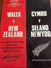 Wales V New Zealand 11/11/1978