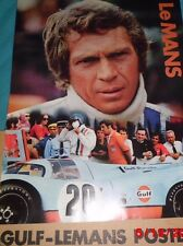 1971 Steve McQueen/Gulf Oil Lemans Poster -Original-Not a Repro!!! 48 Years Old!