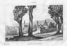TOSCANE FLORENCE TOSCANA FIRENZE GRAVURE ENGRAVING STAMPA ANTICA 1834