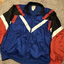 eeafde511982 Adidas Originals 90 s Vintage Mens Tracksuit Top Jacket Nylon Blue Red Retro