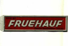 New listing Nice Large Very Old Fruehauf Trailer Equipment Coal Mining Sticker # 492